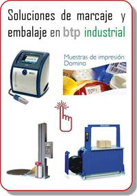 Soluciones de marcaje y embalaje de btp industrial